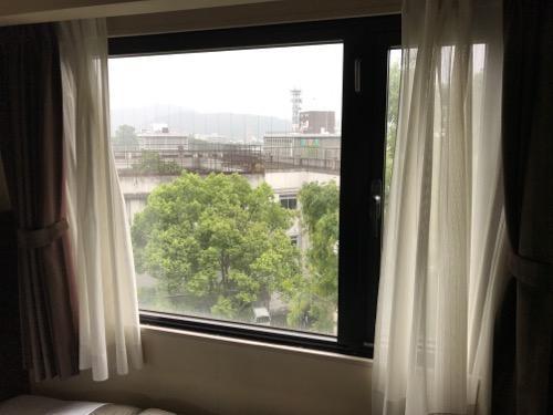 コンフォートホテル岡山 シングルルームの部屋の窓から見える景色