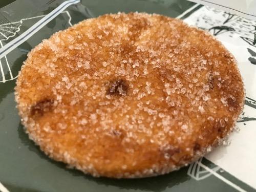 島村煎餅の名代手焼せんべい風味堅焼5枚目(白い粒は砂糖かな?)