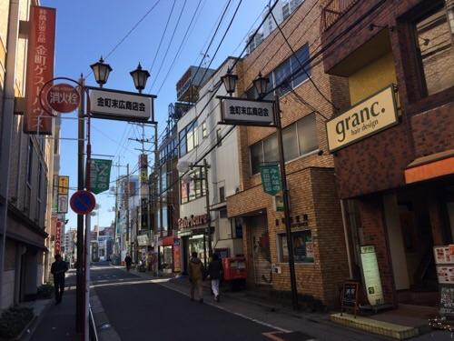 金町郵便局(住所:東京都葛飾区金町5-31-14)前の風景