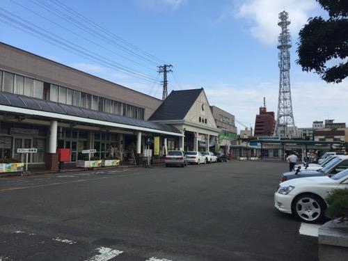 JR松山駅の2016年8月23日8時23分現在の様子