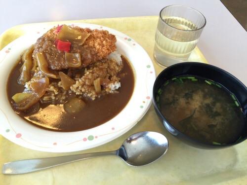 東京都港区役所11階のレストランで注文したカツカレー