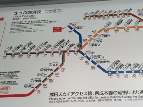 京成金町駅きっぷ運賃表-京成金町駅付近