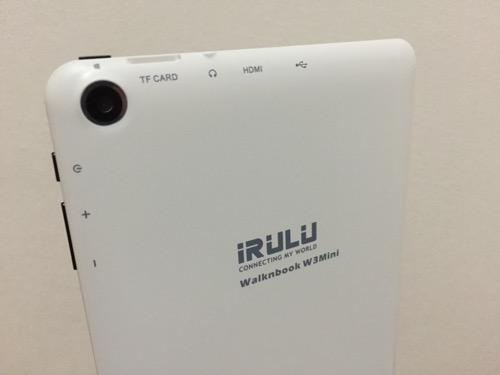 iRULU Walknbook W3Mini 8 JW008(Windows 10タブレット)の裏側