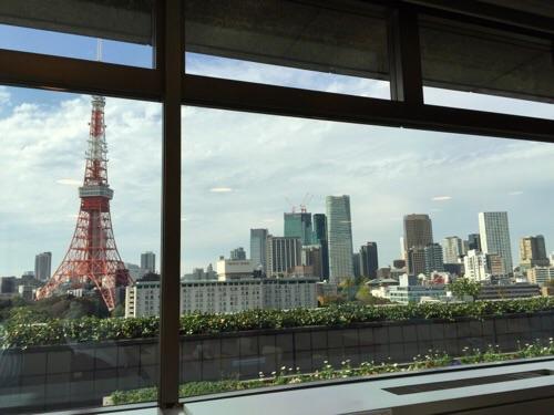 東京都港区役所11階のレストランから見える景色(東京タワーが綺麗)