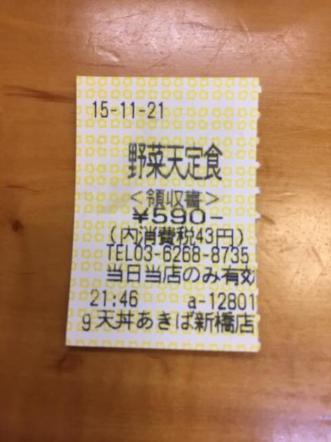 天丼あきば新橋店で野菜天定食を頂きながら、熊本のおじいさん達とお話しする