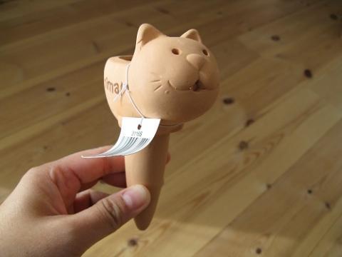 園芸用品「アニマルテラコッタ・ウォーターキーパー:ネコ」