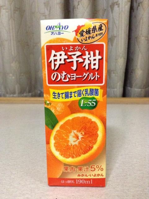 オハヨー乳業株式会社「伊予柑のむヨーグルト」(紙パック/190ml)飲んだ