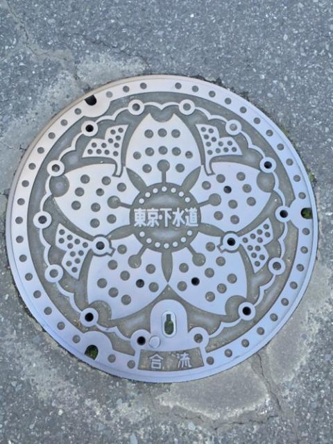東京・下水道のマンホールの蓋-東京都葛飾区金町
