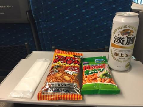 麒麟淡麗極上〈生〉を新幹線で飲みながら富士山を見るといつもより美しい!