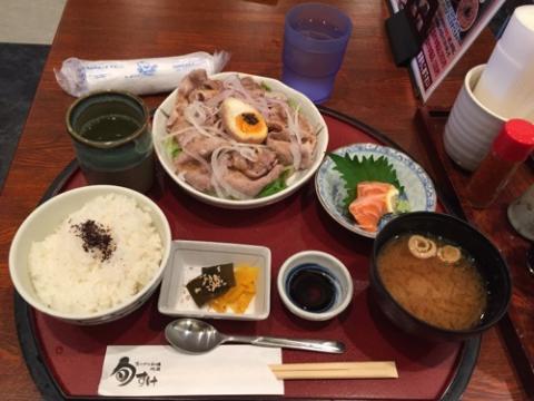 豚の冷しゃぶランチをJR岡山駅の「旬すけ」で食べた感想