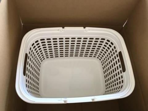 洗濯籠「アイリスオーヤマ バスケット ランドリー ピュアホワイト LB-M」を購入して使用した感想