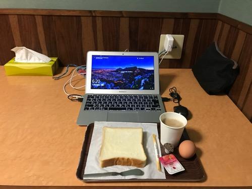 ホテルリバーサイドの朝食