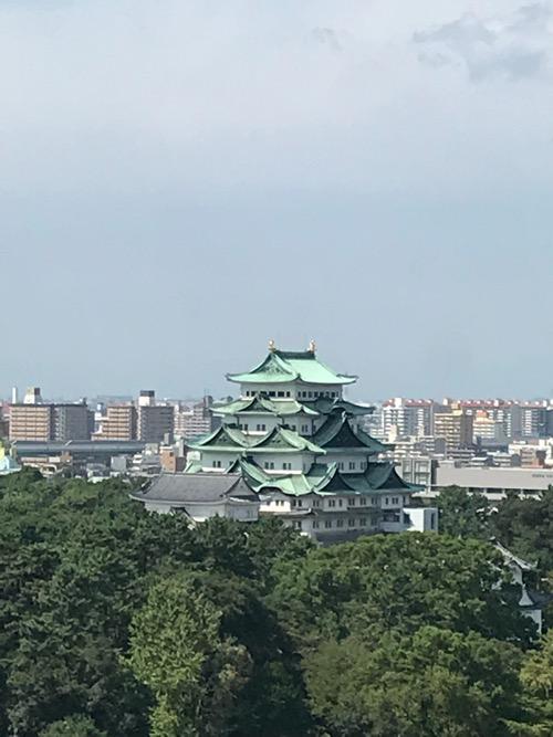 名古屋法務局11階のレストランの窓から見える風景(名古屋城の拡大写真)