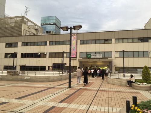 JR松戸駅西口の通路