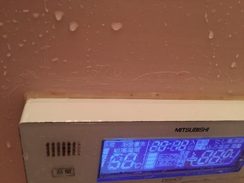 お風呂の操作パネルの縁についたカビにカビトルデスを使用した後の様子
