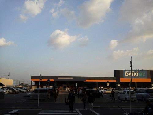 エミフルMASAKI 2014年1月1日初売り時の駐車場の様子(開店20分前)