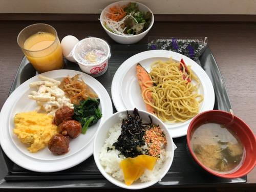 ABホテル豊橋のバイキング形式の無料朝食
