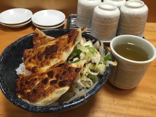 新橋餃子の餃子丼