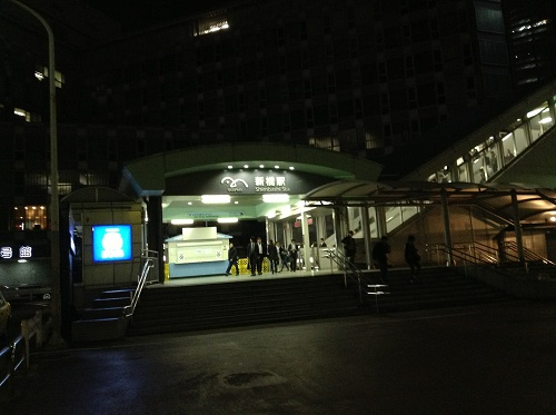 ゆりかもめ新橋駅の入口