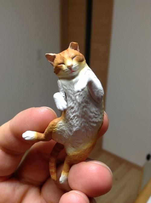 「ネイチャーテクニカラーMONOネコ マグネット×ストラップ」(株式会社奇譚クラブ)のガチャガチャで入手した猫(正面)