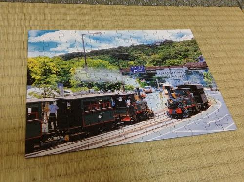 ジグソーパズル「坊っちゃん列車と松山城」(完成)