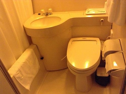 呉ステーションホテル室内(お風呂、トイレ、洗面台)