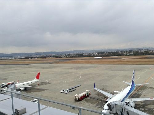 仙台空港展望デッキからの眺め
