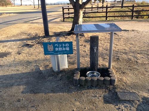 宮島サービスエリア(下り線)にあるペットの水飲み場