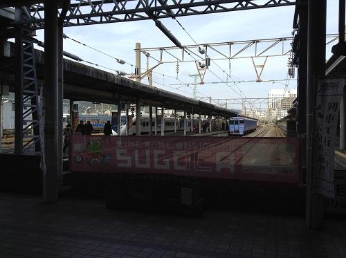 長崎駅ホーム(3番乗り場と4番乗り場)