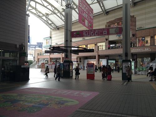 長崎駅の改札口前
