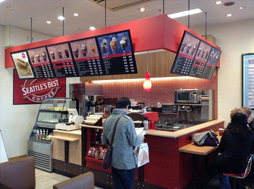 長崎駅改札口のすぐ隣にあるSEATTLE'S BESTS COFFEE(SBC 長崎駅店 長崎県長崎市1-1)