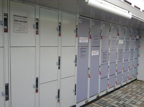 長崎駅前のコインロッカー