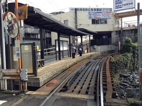 正覚寺下電停ホーム
