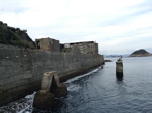端島(軍艦島)の岸壁