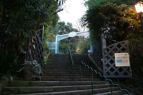 長崎県長崎市・グラバー園入口の石段