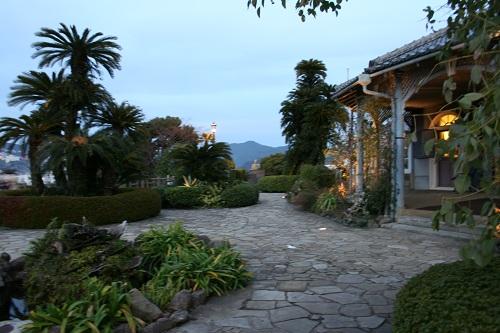 グラバー園・旧グラバー住宅前の庭園にある薩摩藩主より寄贈されたとされる樹齢300年・国内最大級のソテツ