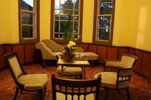 グラバー園・旧ウォーカー住宅室内の応接室