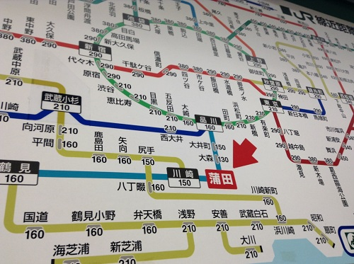 JR蒲田駅 周辺路線図