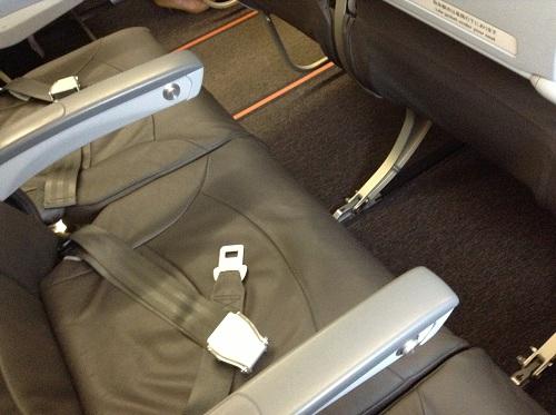ジェットスターの機内の座席