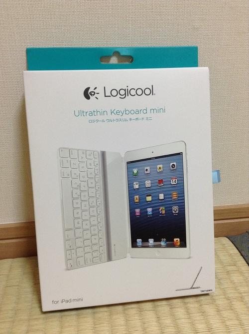 iPad mini用キーボード「Logicool Ultrathin Keyboard mini TM710WH(LOGICOOL ウルトラスリムキーボードミニ ホワイト TM710WH)」の箱