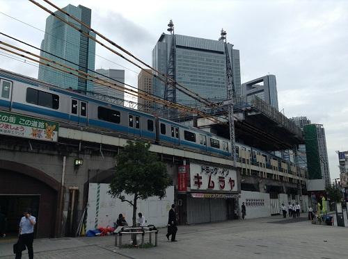 新橋駅日比谷口 (2013年7月3日朝)