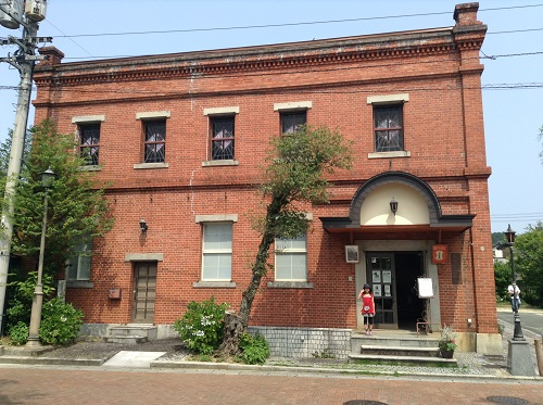 おおず赤煉瓦館(愛媛県大洲市大洲60番地)の正面