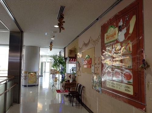 インド料理 ガネーシュ 宇品店(広島県広島市南区宇品海岸1丁目13-26 広島港の新旅客ターミナル2階)の店舗入口付近