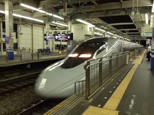 JR広島駅ホームに到着しつつある「こだま762号」(Rail Star)