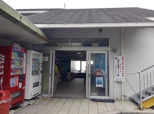 瀬の浜待合所(愛媛県南宇和郡愛南町船越1599番地)の入口