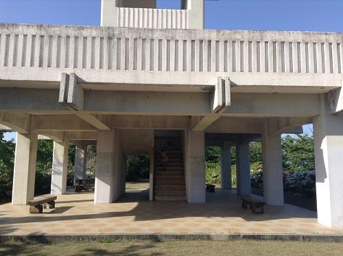 えひめ森林公園 谷上山第2展望台の入口付近