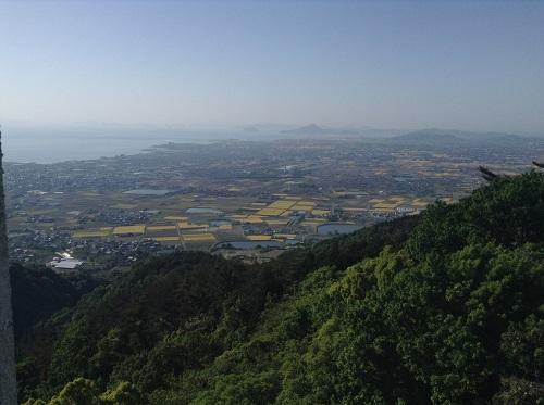 えひめ森林公園 谷上山第2展望台からの眺め(伊予市方面)