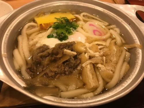 見奈良天然温泉利楽の鍋焼きうどん