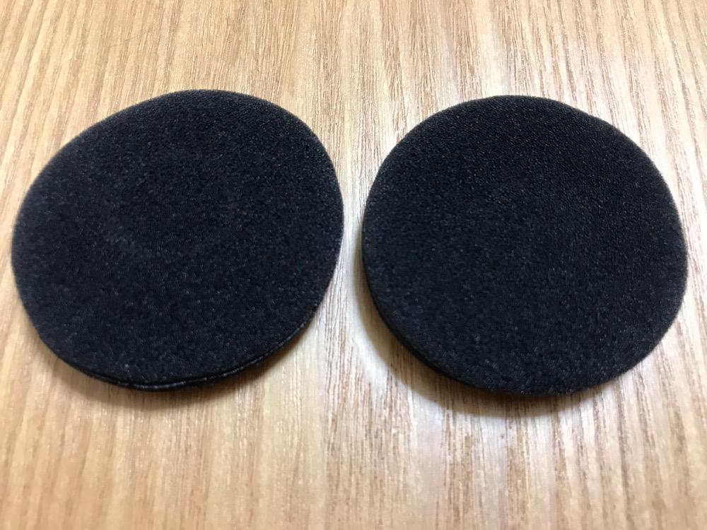 直径50mmのヘッドホン交換用イヤーパッドの表面