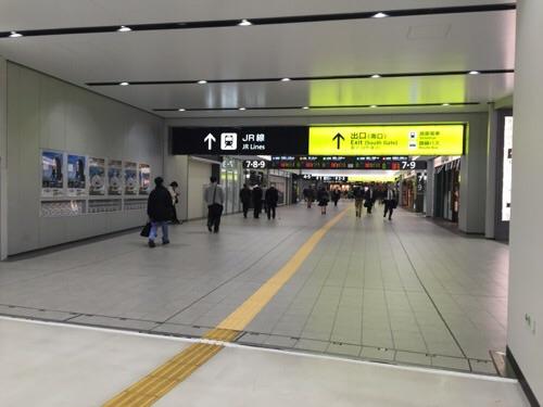 JR広島駅の在来線連絡通路